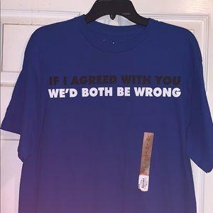 Men's large funny t shirt NWT